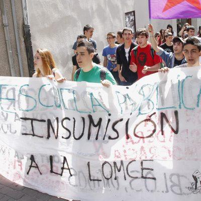 Un centenar de estudiantes de secundaria se manifiestan contra la reforma educativa