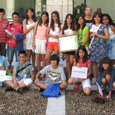 Los alumnos de 6º de San Gil reciben su premio del certamen de la ONCE en Valladolid