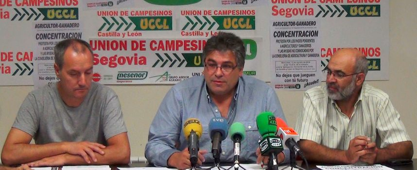 UCCL Segovia convoca mañana una concentración para reclamar las ayudas pendientes a agricultores y ganaderos