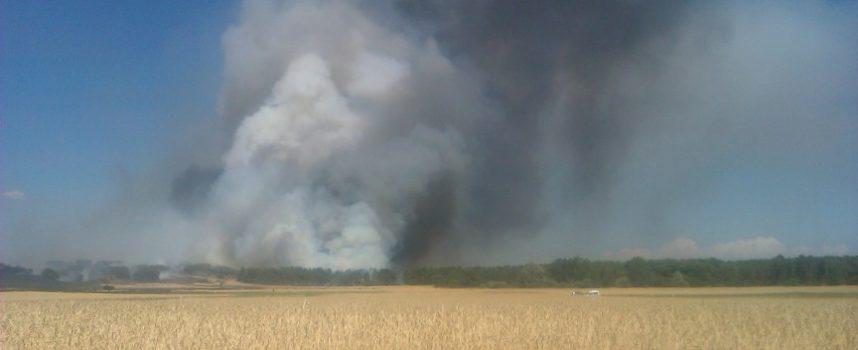 Activo un incendio en Mudrián