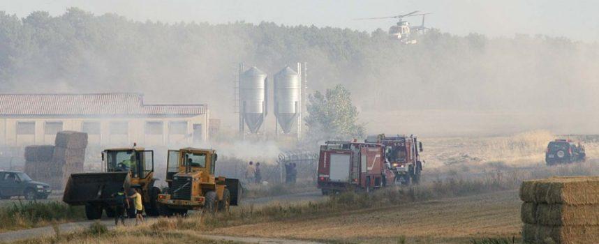 Una estufa de una granja avícola fue el origen del fuego en el término de Pinarejos