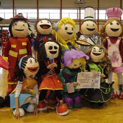 Los Fofuchabajos, ganadores del concurso infantil de disfraces