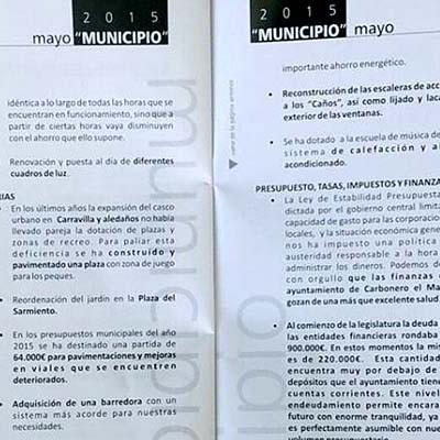 """La Junta Electoral insta a la alcaldesa de Carbonero y al PP a cesar la distribución de la revista """"Municipio"""""""