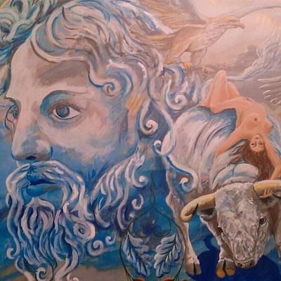 Un cuellarano expone su arte en la Plaza de Toros de Las Ventas