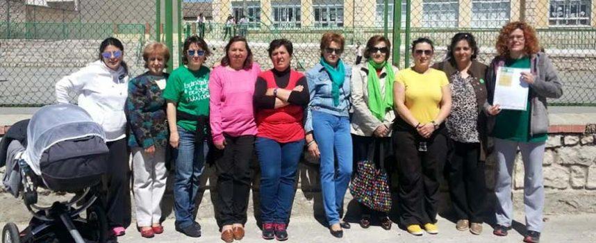 """""""Plante"""" ante el colegio del CRA EL OLMAR en Olombrada, en protesta por la reválida de 3º de Primaria."""