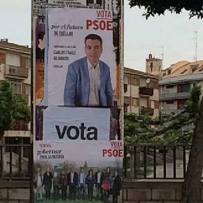 """El PP señala la """"falta de pluralidad democrática"""" del candidato del PSOE por tapar sus carteles"""