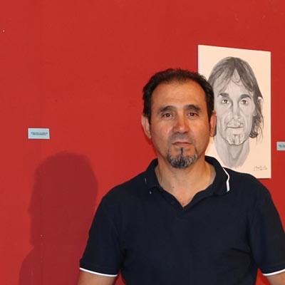 """Jesús Calvo """"Tomillo"""" muestra sus retratos en la iglesia de San Francisco"""