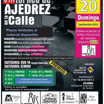 El Torneo de Ajedrez en la Calle de Carbonero El Mayor cuenta con más de un centenar de inscritos