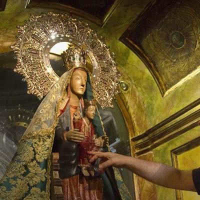 La virgen de El Henar lista para su Romería tras su limpieza y restauración