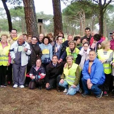 Los usuarios de Fundación Personas participaron en la III Marcha Solidaria de Navas de Oro
