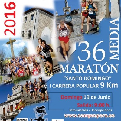 "Campaspero acoge el domingo su XXXVI Media Maratón y la I Carrera popular ""Santo Domingo"""