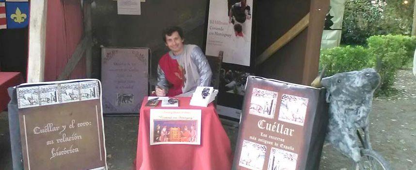 El norteamericano Bill Hillmann presentó en Cuéllar su novela `Corriendo con Hemingway´