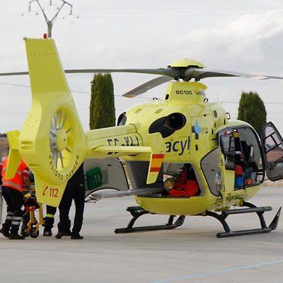 Un hombre de 79 años ha sido trasladado al Clínico tras ser atropellado por un tractor en Cuéllar