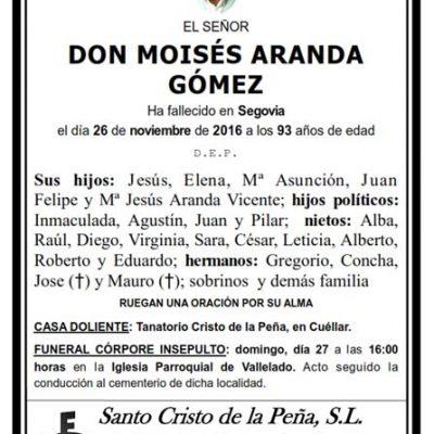 Moisés Aranda Gómez