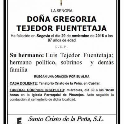 Gregoria Tejedor Fuentetaja