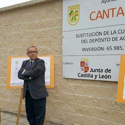 El delegado territorial visita las obras de mejora ejecutadas del depósito de agua potable de Cantalejo