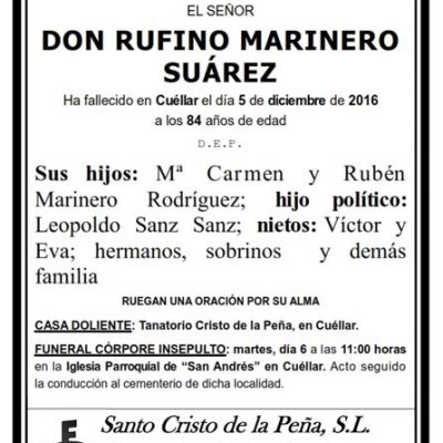 Rufino Marinero Suárez