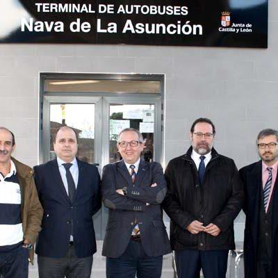 La Consejería de Fomento y Medio Ambiente invierte 60.000 euros en la modernización de la terminal de autobuses de Nava de la Asunción