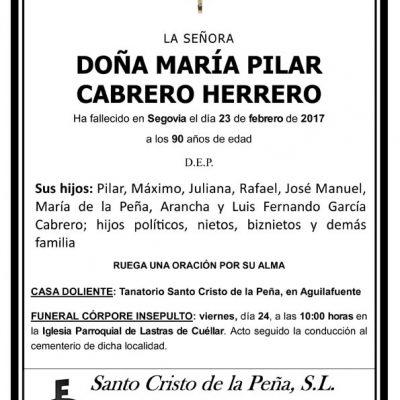 María Pilar Cabrero Herrero