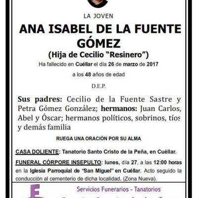 Ana Isabel de la Fuente Gómez