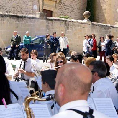 La Banda Municipal de Cuéllar actuó en Valseca dentro del ciclo `Aperitivos a Banda´