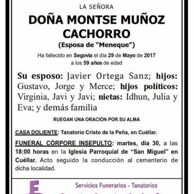 Montse Muñoz Cachorro