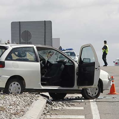 Nuevo accidente en el cruce de la carretera de Peñafiel