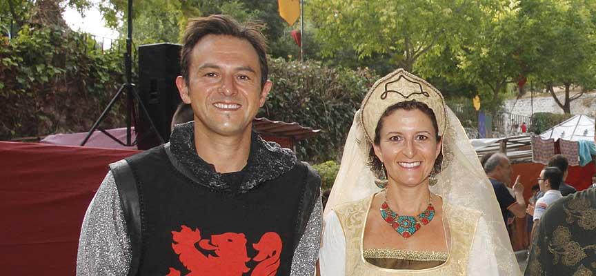 Manuel Lara Cantizani, concejal del Ayuntamiento de Lucena, durante su visita a la feria Cuéllar Mudéjar el pasado año