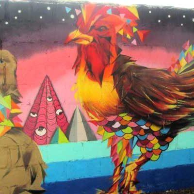 Miguel Bume, ganador del concurso de grafiti Ruralgraf