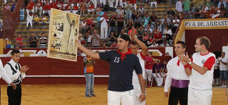 Borja del Olmo en el homenaje que le rindieron en 2013.