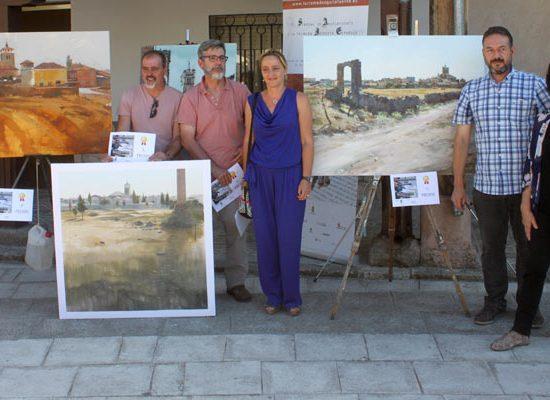 José Ignacio Amelivia ganador del I Concurso de pintura rápida al aire libre `Villa de Aguilafuente´