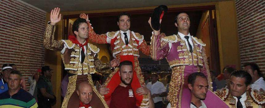 Javier Herrero triunfa y convence. Los Lagunajanda, una máquina de embestir