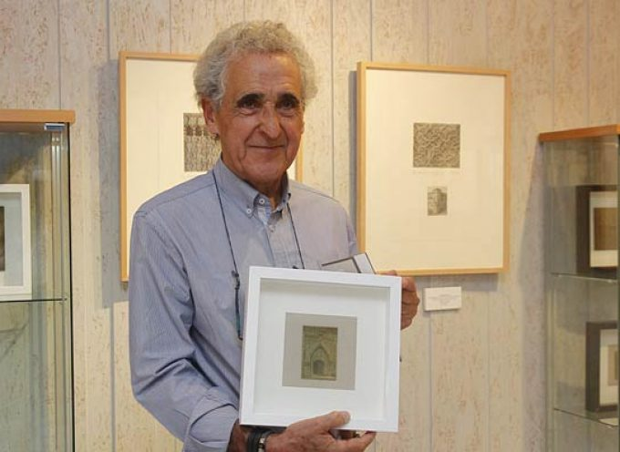 Justino Santos acerca a través de sus grabados el esgrafiado segoviano a la sala Alfonsa de la Torre