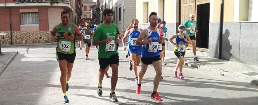 Intensa lucha de Atletismo Cuéllar en la Carrera Popular `El Bustar´ de Carbonero el Mayor