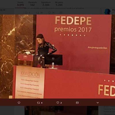Rebeca Minguela, premio FEDEPE a la Innovación y emprendimiento femenino