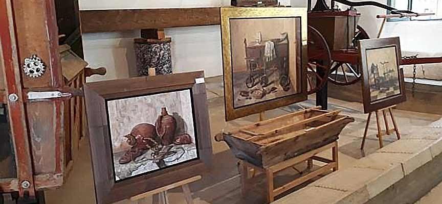 Fuenterrebollo acoge una exposición de pintura de seis artistas locales