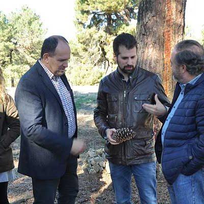Luis Tudanca reclama más medios e inversión en la lucha contra los incendios forestales en su visita al entorno de Cantalejo