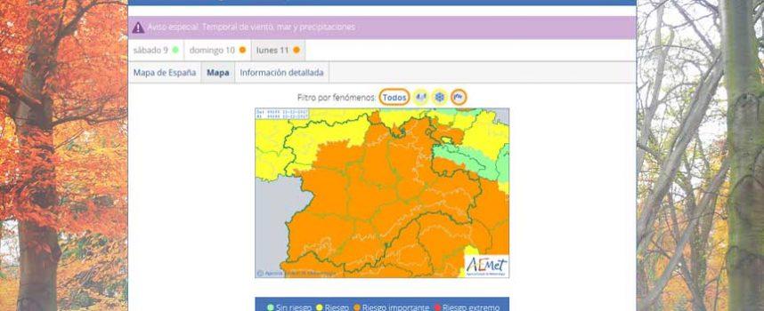 Alerta por fuertes vientos de hasta 100 km/h domingo y lunes en la provincia