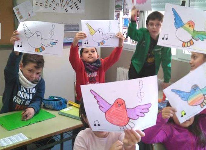 Los alumnos del CRA El Carracillo se sumaron a la celebración del `Día de la Paz´