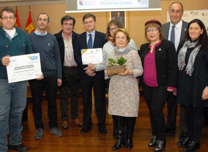 Los Belenistas de Cuéllar recogen su premio al mejor belén popular de la provincia