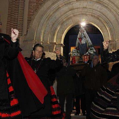 Pichones y torta para agasajar a la virgen de Las Candelas en Cuéllar