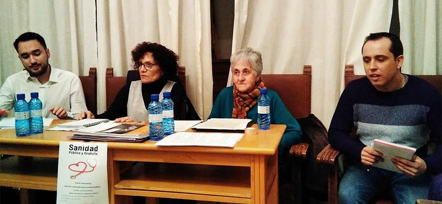 David Arévalo, Lucía Corral, Ana Herrero e Iván Gómez durante la charla.   Foto: PSOE Carbonero  