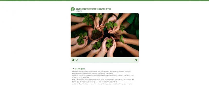 El CEIP San Gil promueve la creación de un huerto escolar a través del portal #ecólatras de Ecovidrio