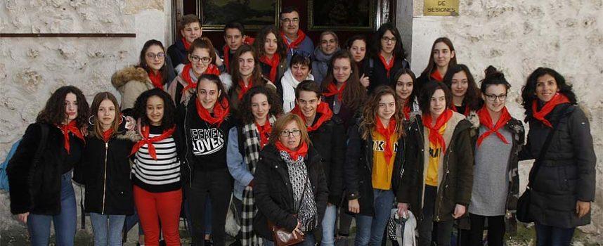 Alumnos franceses visitan Cuéllar en un intercambio con el IES Duque de Alburquerque