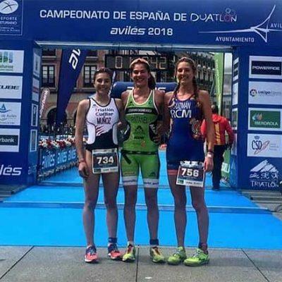 Marina Muñoz se proclama subcampeona de España de duatlón junior femenino en Avilés