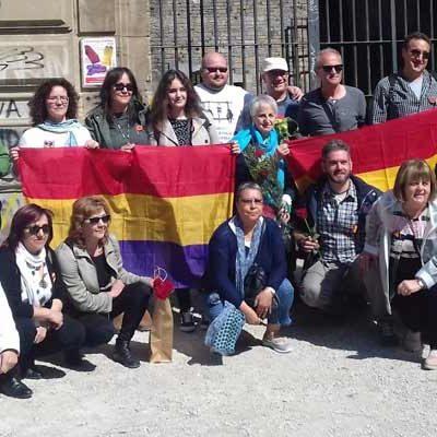 La Asamblea de IU de Cuéllar se sumó a los familiares en el homenaje a los presos del Fuerte de San Cristobal