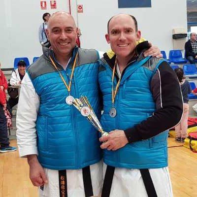 Juan Antonio Velasco y José Luis Herrero, subcampeones regionales de defensa personal