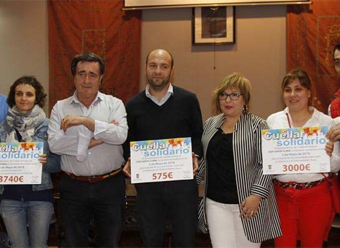 `Cuéllar solidario´ distribuye los 7.315 euros recaudados entre tres proyectos