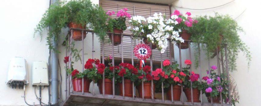 La fachada de Mª Jesús del Caz ganadora del concurso `Cuéllar ponte Guapa´