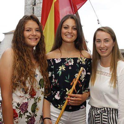Sheyla Mayor, Rebeca Rodríguez y Sandra Montalvillo, corregidora y damas de las fiestas de Cuéllar 2018